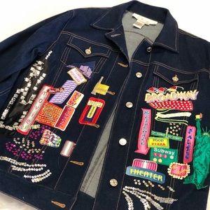 Diare's essentials Denim Jacket, NY patch Trend